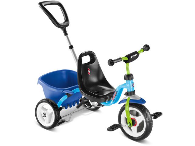 Puky CAT 1S Trehjulet cykel Børn, blue/kiwi